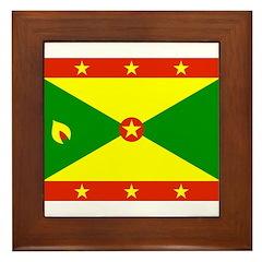 Grenada Flag Framed Tile