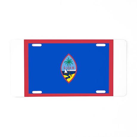 Guam Flag Aluminum License Plate