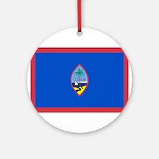Guam Flag Ornament (Round)