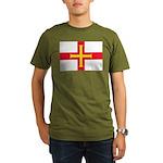 Guernsey Flag Organic Men's T-Shirt (dark)
