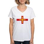 Guernsey Flag Women's V-Neck T-Shirt