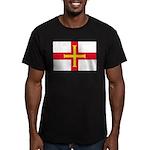Guernsey Flag Men's Fitted T-Shirt (dark)