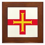 Guernsey Flag Framed Tile