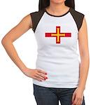 Guernsey Flag Women's Cap Sleeve T-Shirt