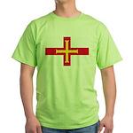 Guernsey Flag Green T-Shirt