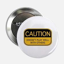 """CAUTION 2.25"""" Button (10 pack)"""