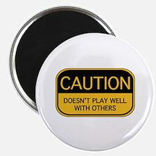 "CAUTION 2.25"" Magnet (100 pack)"