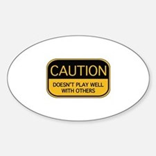 CAUTION Sticker (Oval)