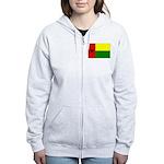 Guinea Bissau Flag Women's Zip Hoodie