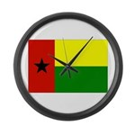 Guinea Bissau Flag Large Wall Clock