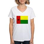 Guinea Bissau Flag Women's V-Neck T-Shirt