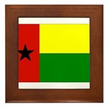 Guinea Bissau Flag Framed Tile