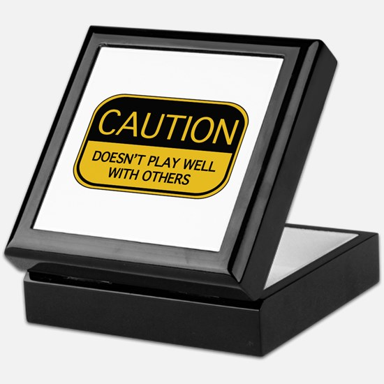 CAUTION Keepsake Box