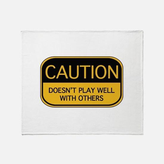 CAUTION Throw Blanket