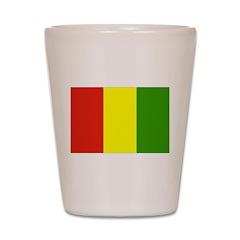 Guinea Flag Shot Glass