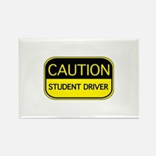 CAUTION Student Driver Rectangle Magnet