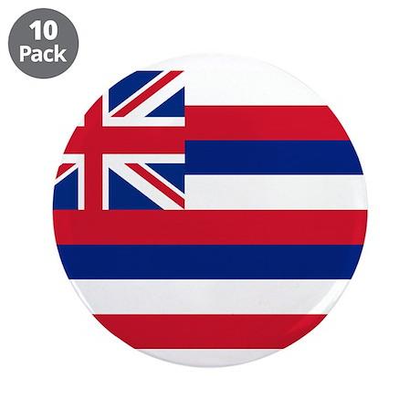 "Hawaii Flag 3.5"" Button (10 pack)"