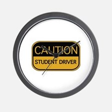 CAUTION Student Driver Wall Clock