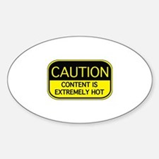 CAUTION Hot Content Decal