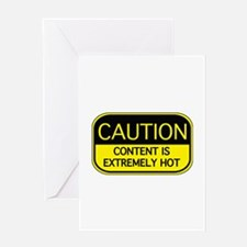 CAUTION Hot Content Greeting Card