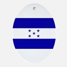 Honduras Flag Ornament (Oval)