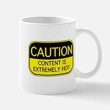 CAUTION Hot Content Mug