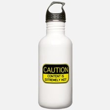 CAUTION Hot Content Water Bottle