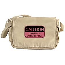 CAUTION Hot Content Messenger Bag
