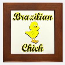 Brazilian Chick Framed Tile