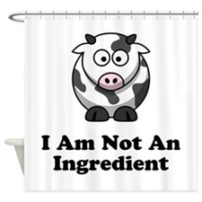Ingredient Cow Shower Curtain