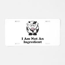 Ingredient Cow Aluminum License Plate