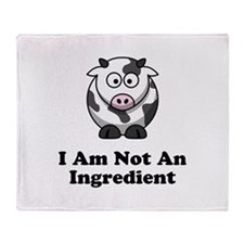Ingredient Cow Throw Blanket