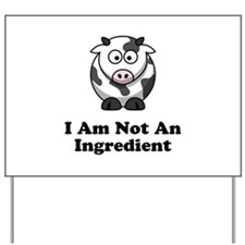 Ingredient Cow Yard Sign