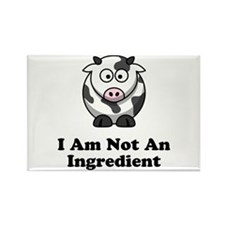 Ingredient Cow Rectangle Magnet (10 pack)