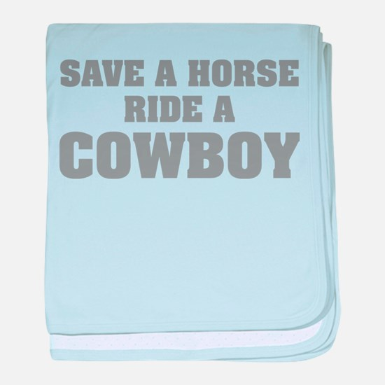 Save a Horse baby blanket