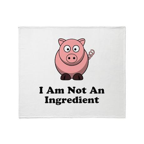 Ingredient Pig Throw Blanket