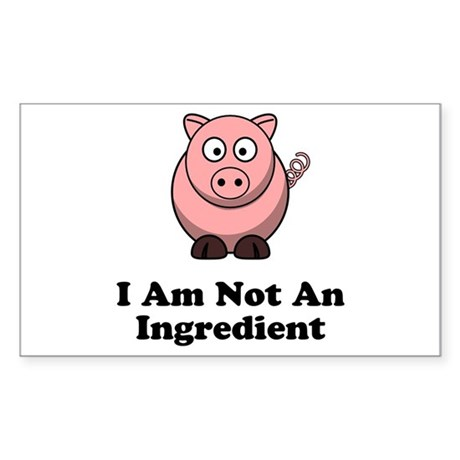 Ingredient Pig Sticker (Rectangle 10 pk)
