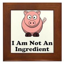 Ingredient Pig Framed Tile