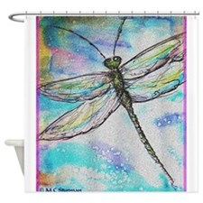 Dragonfly, Bright, art! Shower Curtain