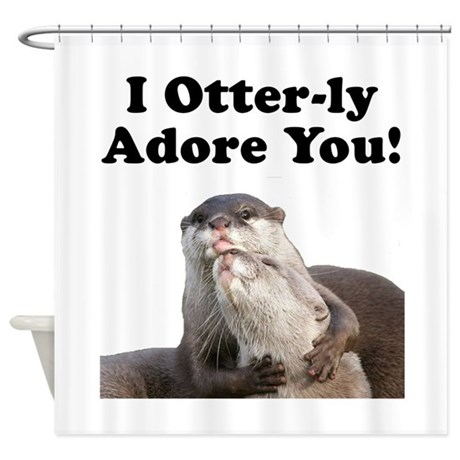 Otterly Adore Shower Curtain