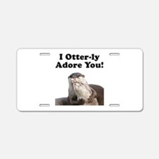 Otterly Adore Aluminum License Plate