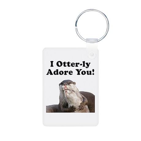 Otterly Adore Aluminum Photo Keychain