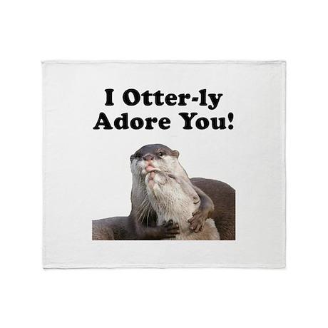 Otterly Adore Throw Blanket