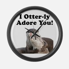Otterly Adore Large Wall Clock
