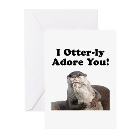 Otterly Adore Greeting Cards (Pk of 20)