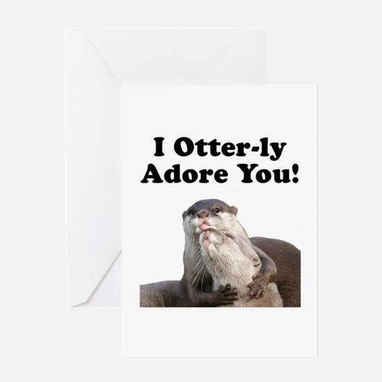 Otterly Adore Greeting Card