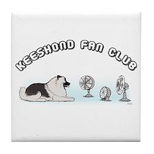 Keeshond Fan Club Tile Coaster