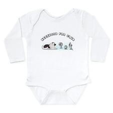 Keeshond Fan Club Long Sleeve Infant Bodysuit