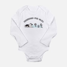 Keeshond Fan Club Long Sleeve Infant Bodysuit