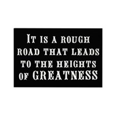 """""""Road to Greatness"""" Rectangle Magnet"""
